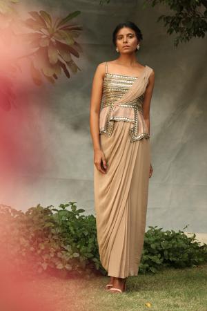 Drape saree gown