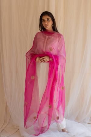 rani pink panch pankhiya odhani