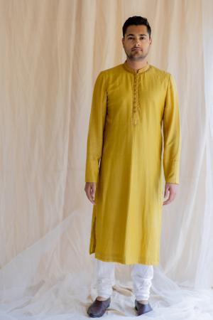 mustard yellow nawab kurta