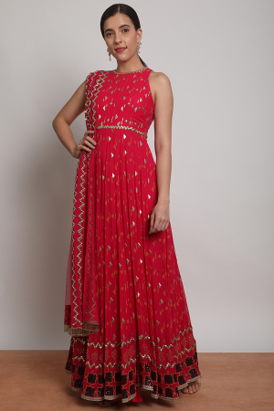 Floating shapes anarkali