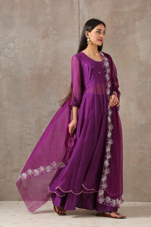 purple kalidar set