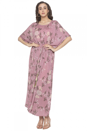 Pink meadow print tunic