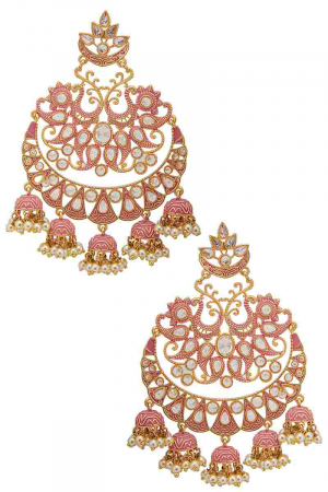 Hand painted chandbali earrings