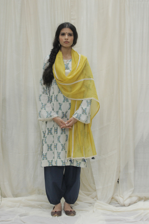 Tribal Flower Kurta Set