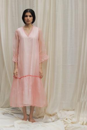Baby Pink Organza Dress