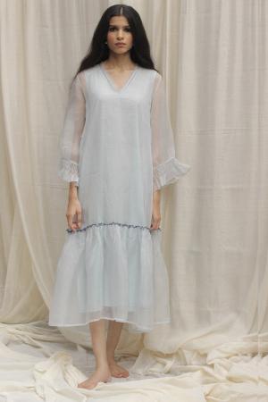 Powder Blue Organza Dress