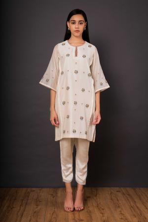 Ivory Phulwari Kameez set