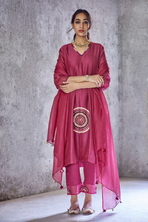 Wine poornima kurta set