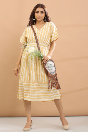 yelow stripe Stripe dress