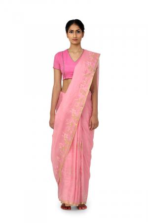 light pink  podho kali sari