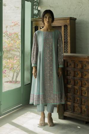 blue meher kurta set
