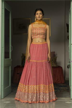 pink soraya lehenga set