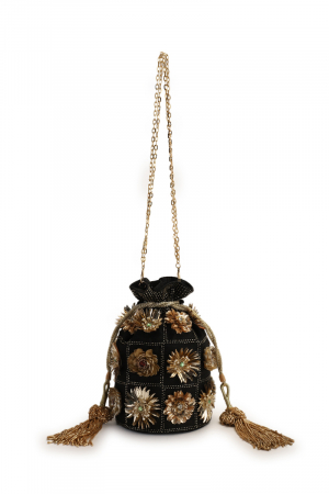 Black diva potli bag