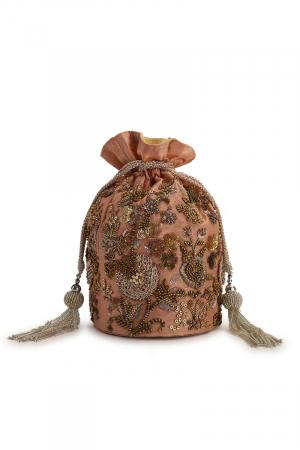 Pancho pink potli bag