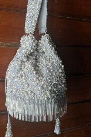 Light Grey Potli Bag