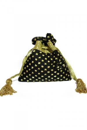 Black Potli Bag