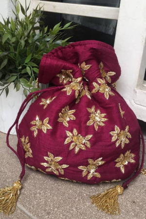 Wine Purple Potli Bag