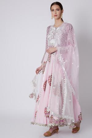 Pink gota Anarkali