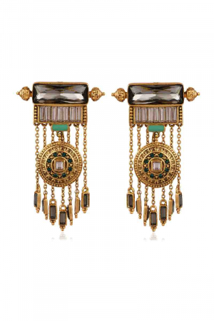 AMRAPALI- Baroque Shield Earrings