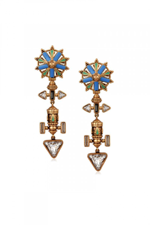 AMRAPALI-Baroque Chakra Earrings