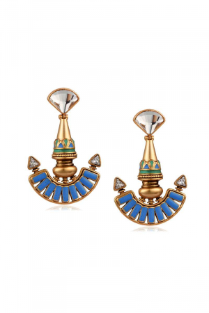 AMRAPALI- Baroque Medallian Earrings