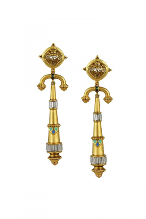 AMRAPALI- Baroque Arc Earrings