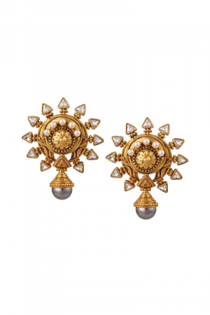 AMRAPALI-Baroque Sun Earrings