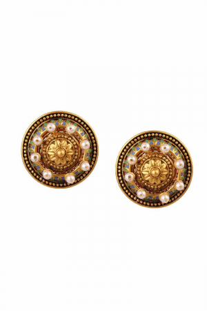 AMRAPALI- Baroque Pearl Studs