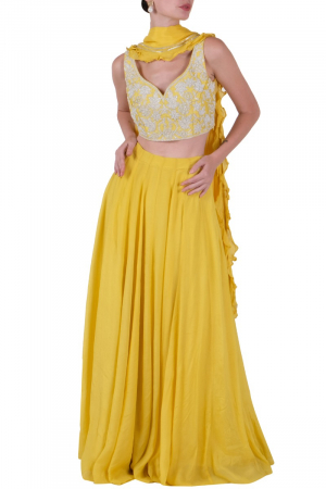 Yellow lehenga set