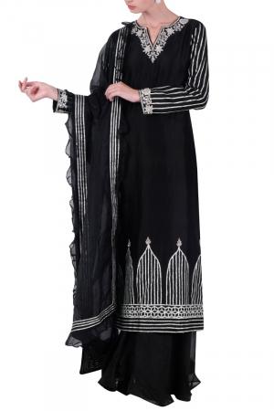 Black kurta set