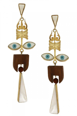 Fun-key evil eye shoulder dusters