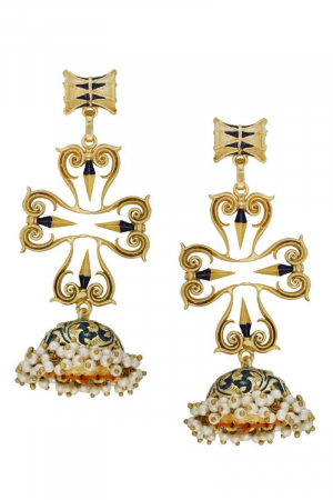 Queenly Charm Jhumkas