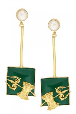 Shiv Shakti Pendulum Earrings