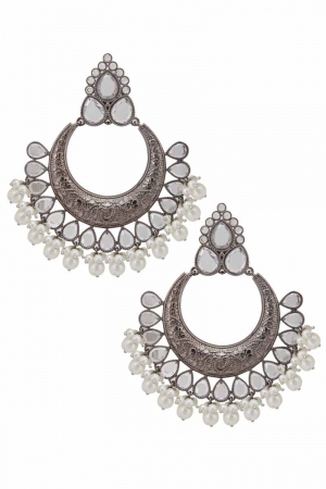 Brass based chandbali earrings