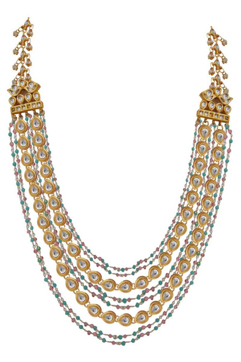Kundan Sidepiece Necklace