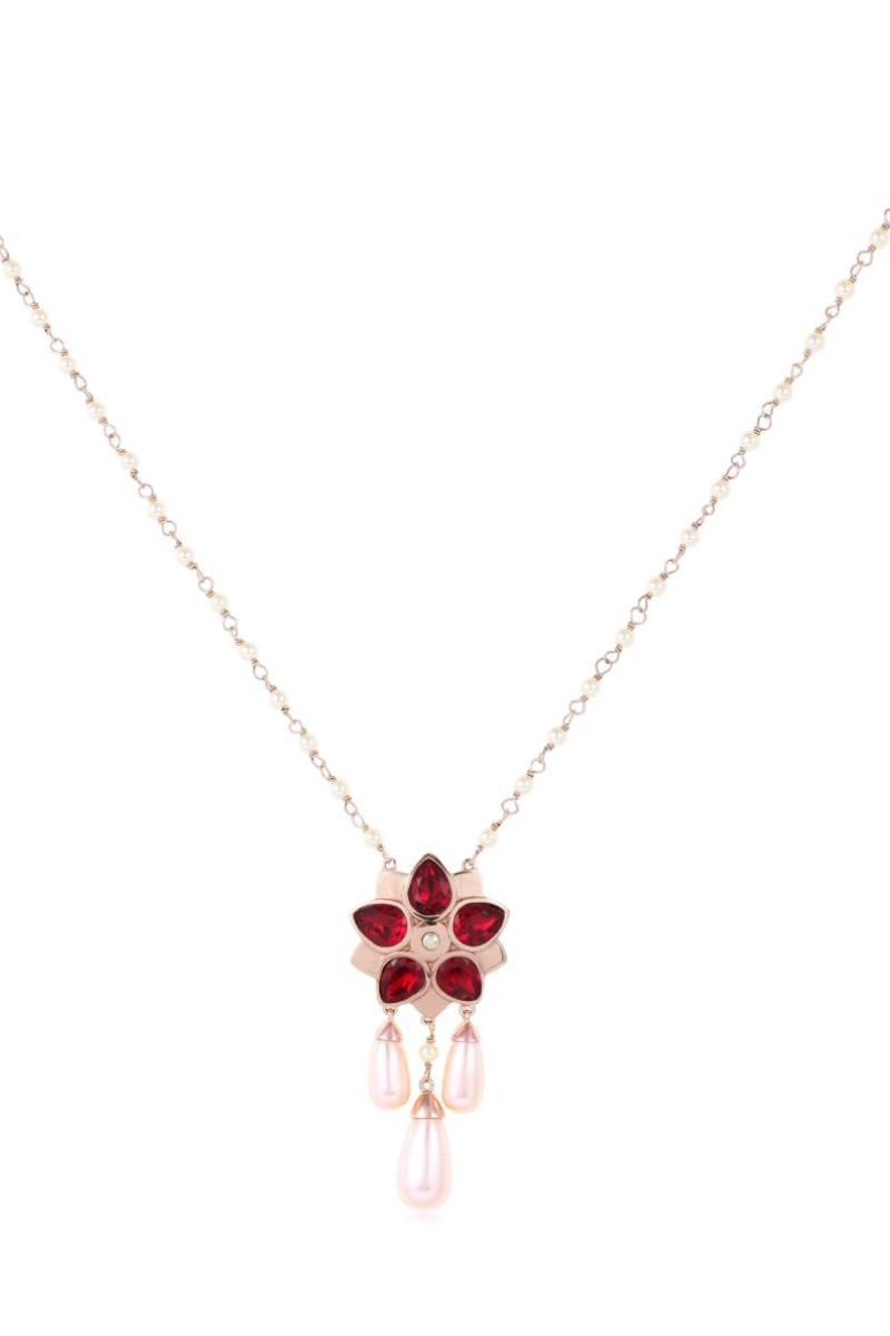 SUNEET VARMA-Enchanted Forest  Red Floret Pendant