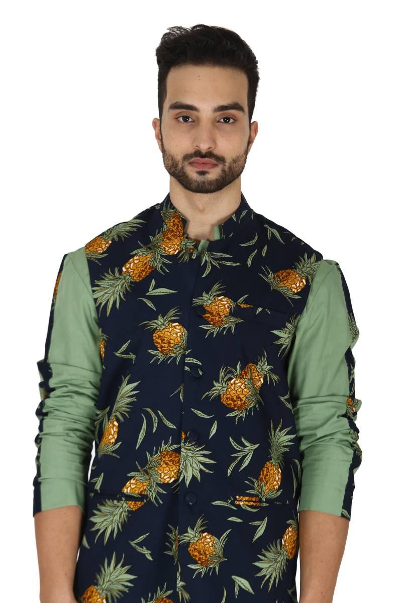 Pineapple print bundi set
