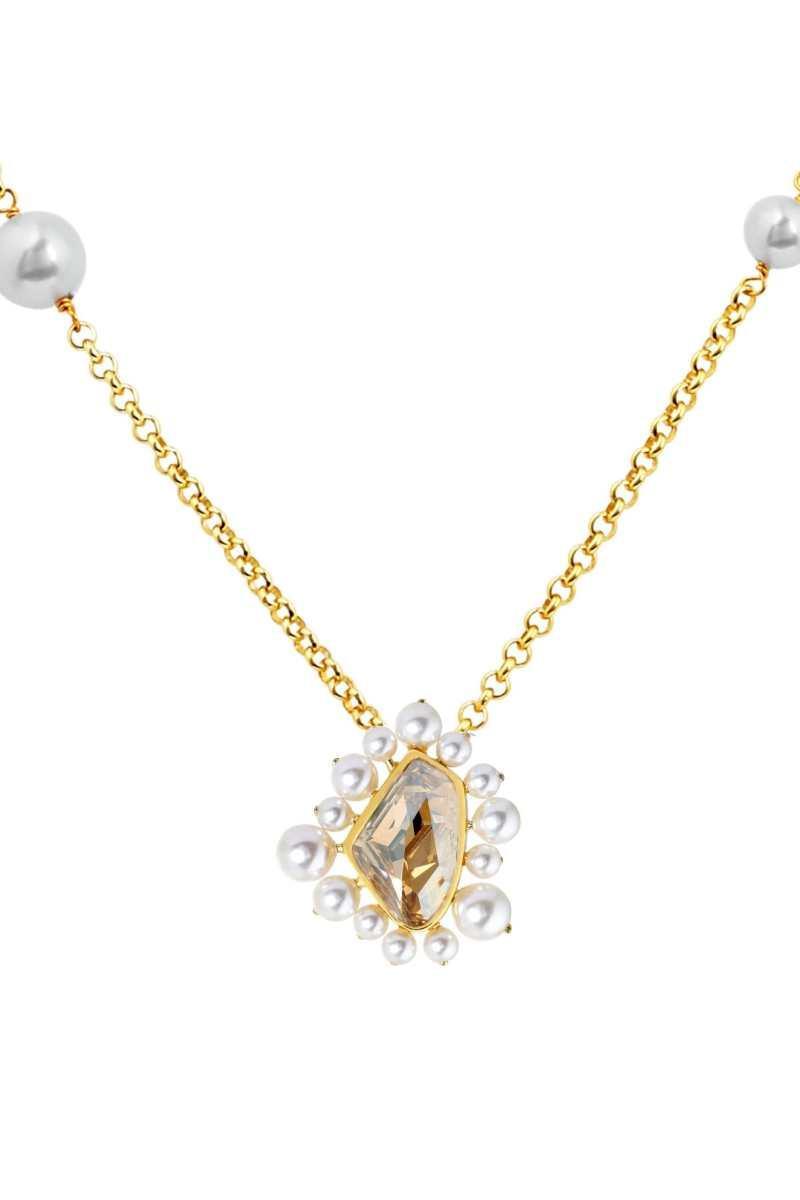 ISHARYA- Desert Pearl Topaz Necklace